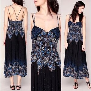 FP Be My Baby Maxi Dress Buttons Fit & Flare Midi